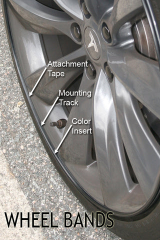Tesl Model S wheel bands instructions