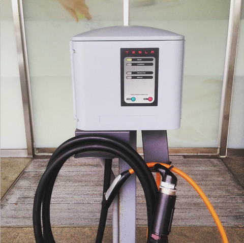 Tesla Model S charging hardware in Asia