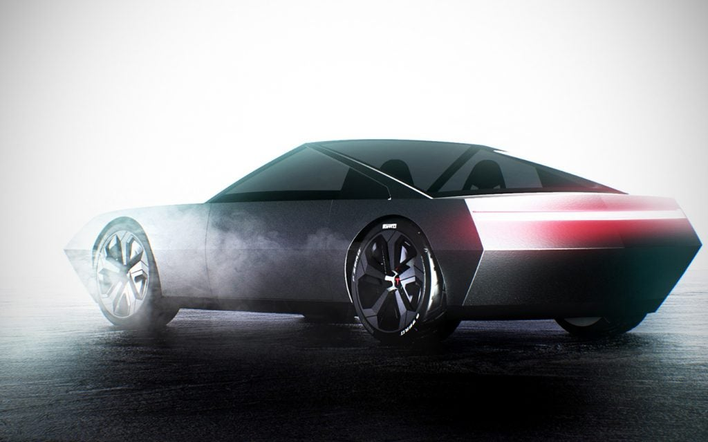 Tesla Cyber Roadster concept by the artist.