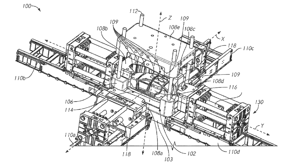 Tesla Giant Gigacast machine patent
