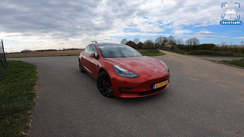 Tesla Model 3 getting ready for the German Autobahn experience.