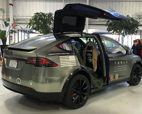 Tesla Model X veteran's day