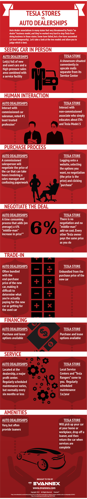 tesla stores vs franchise auto dealerships