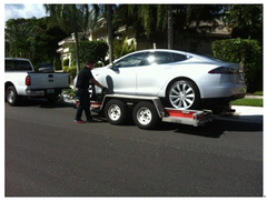Rodger Pressman Tesla Model S delivered