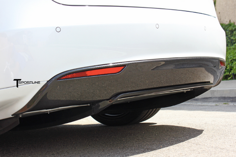 Tesla Model S Carbon Fiber rear diffuser