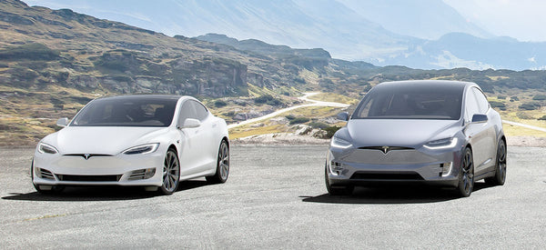 Tesla Model S and Model X side by side in the latest press photo