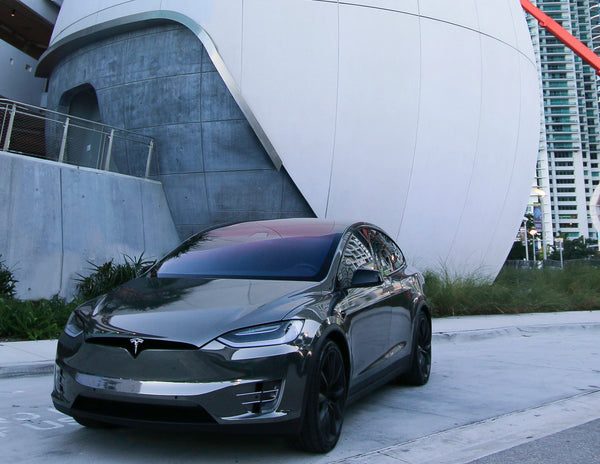 This black chrome Tesla Model X is the epitome of style