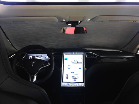 Tesla Model S Heatshield Custom Gold Series Sunshade