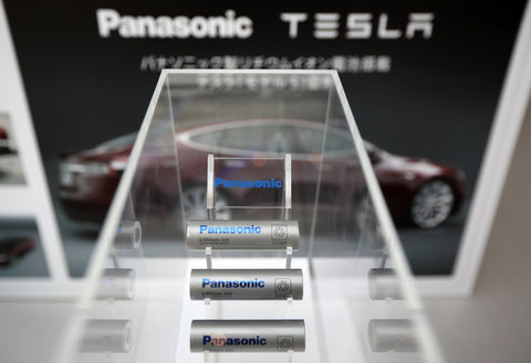 lithium-ion batteries built by panasonic for tesla motors
