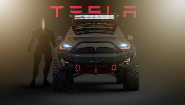 off roading in a tesla model x evannex aftermarket tesla accessories