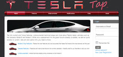 Tesla Tap website for Tesla owners/enthusiast