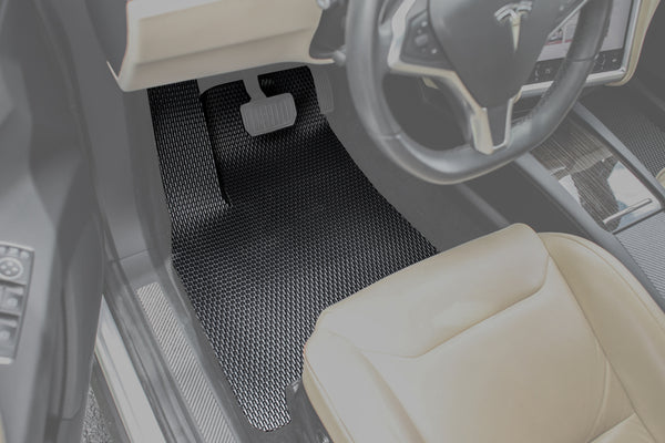 EVANNEX All-Weather Floor Mats for Tesla Model X (7 Seater)