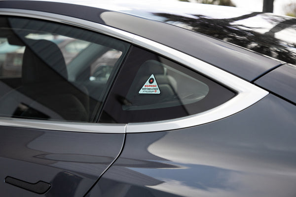 'Sentry Mode' Warning Window Clings for Tesla Owners