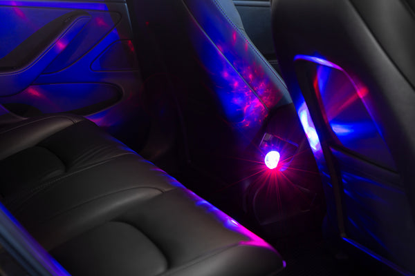 Mini Sound-Activated USB Disco Ball for Tesla Owners
