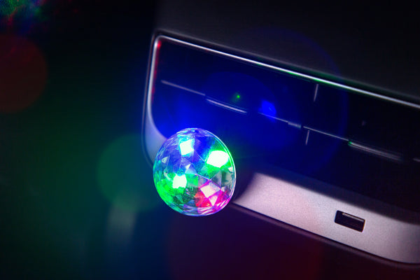 Mini Sound-Activated USB Disco Ball for EV Owners