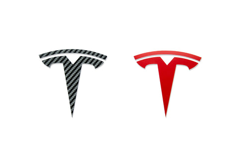 Front and Rear Vinyl 'T' Accents for Tesla Owners