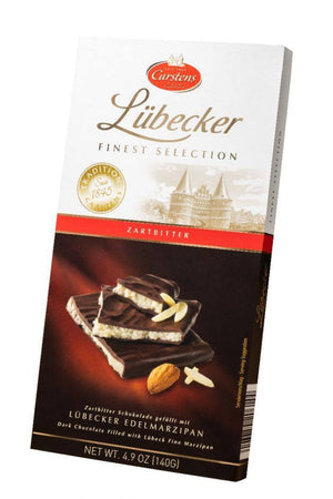 Lubecker Dark Chocolate Marzipan Bar