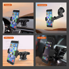 Allovit Car Phone Mount, 2-in-1 Extendable Dashboard Car Air Vent Cell Phone Holder