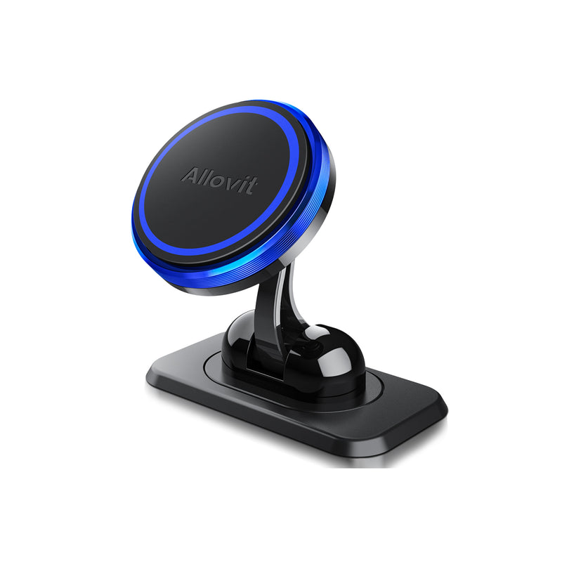 Allovit Magnetic Phone Car Mount, 360° Rotate Magnetic Cell Phone Holder for Car Dashboard