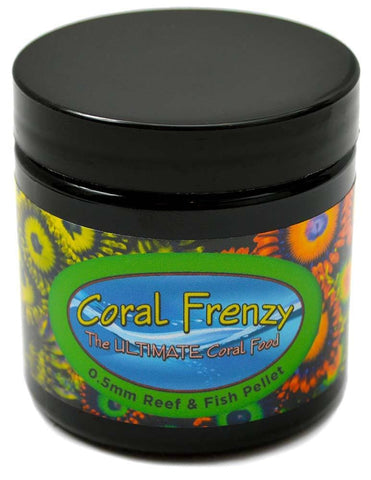 Coral Frenzy 0.5 mm Pellets 65 Grams - Canada Corals