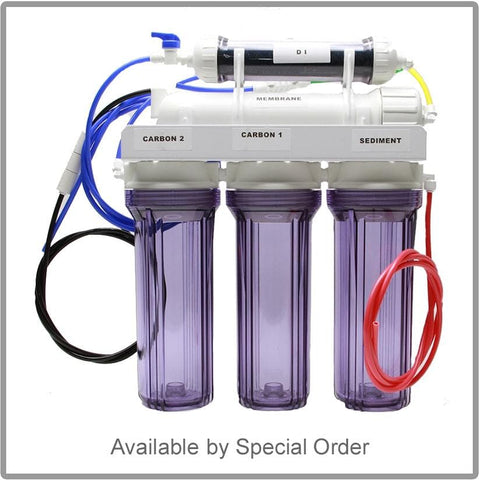 100GPD 5 Stage RO/DI System With Clear Housing (Special Order) - Canada Corals
