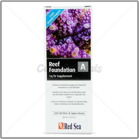 Red Sea Reef Foundation A (Ca/Sr Supplement) - Canada Corals