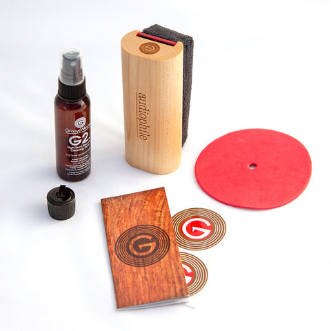 Audiophile Maple Record Cleaning Kit made by Groovewasher