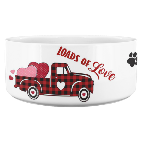 Personalized Dog Bowl - Cat Bowl - Valentines Day - Valentines Gift - Heart