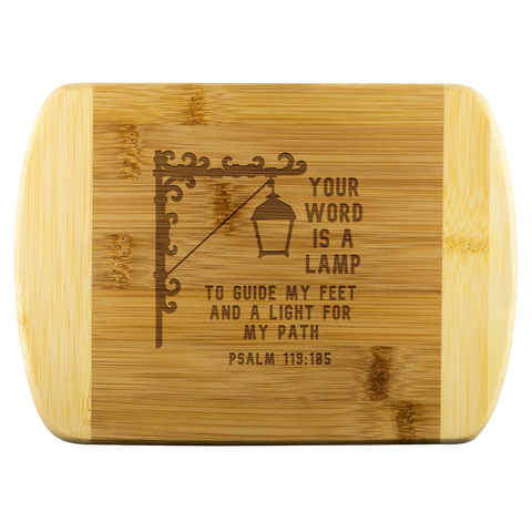 Verse Wood Cutting Board Psalm 119:105
