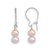 Peach and White Cultured Freshwater Pearl Earrings