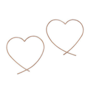 Freeform Heart Earrings