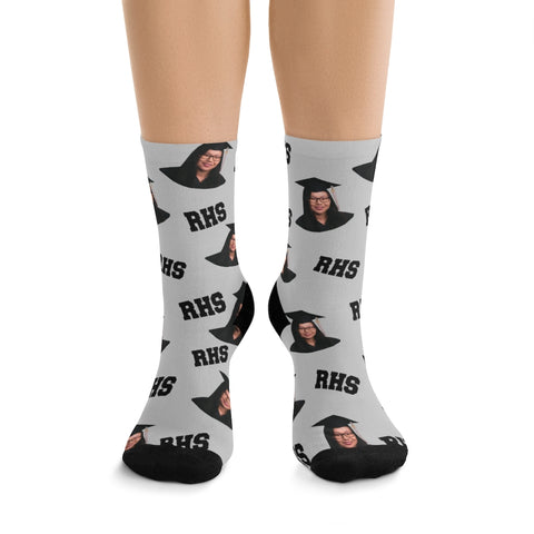 Graduation Socks - Graduate - Cap and Gown