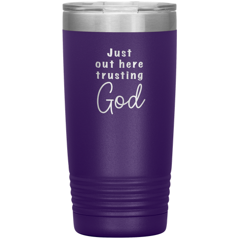 Trusting God Christian Stainless Insulated Tumbler