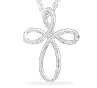 Sterling Silver Woven Cross Pendant