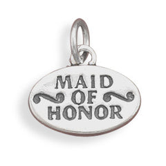 Sterling Silver Maid of Honor Charm