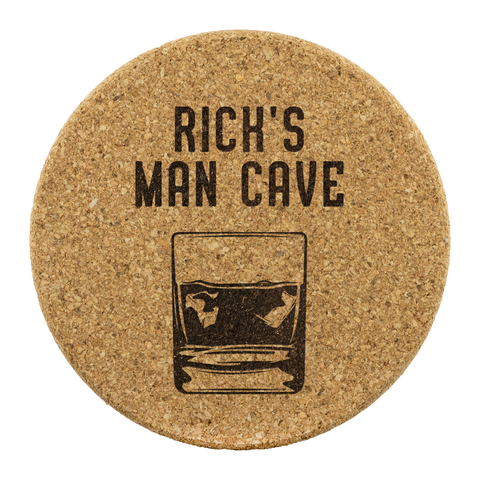 Personalized Man Cave Coasters - Your name - You Personalize - Man Cave - Cork Coasters