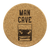 Man Cave Coasters - Drink Coasters - Cork Coasters
