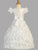 All White Formal Dress - Matching Doll Dress