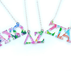 Greek - Floating Greek Letters Necklace