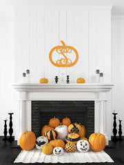"18"" Wood Pumpkin Monogram"