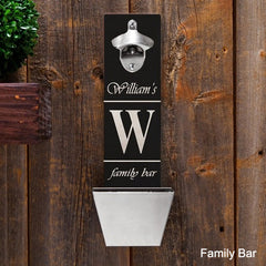 Bottle Opener Wall Mounted Personalized