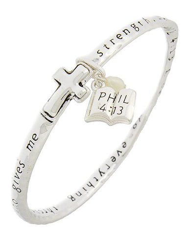 Phil 4:13 Stretch Bracelet