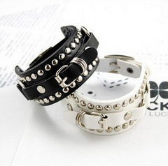 Punk Buckle Belt Chain Bracelet