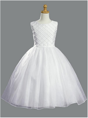 All White Communion Dress