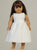 All White Communion Dress - Matching Doll Dress