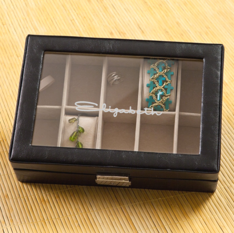 Women's Jewelry Box with Engraved Name