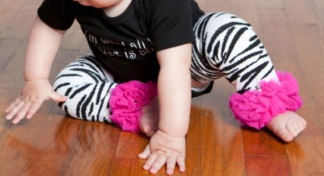 Zebra Leg Warmers with Hot Pink Chiffon
