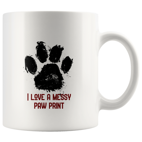 Messy paw print - pet mom - dog mom