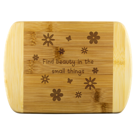 Floral Wood Cutting Board - Find beauty in the small things