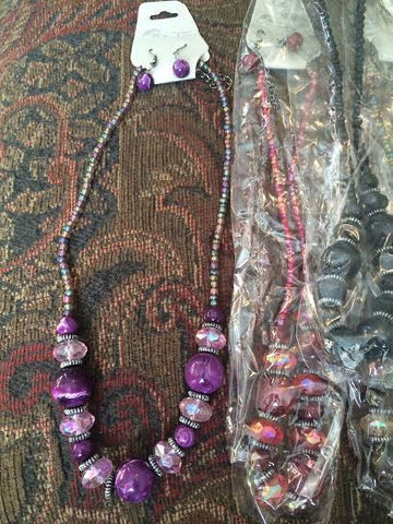 Necklace and Earring Set - Beaded